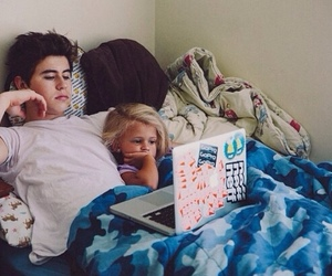 bed, computer, and nash grier image