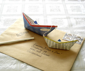 boat, graphic, and Paper image