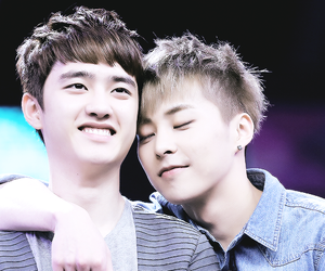 xiumin, d.o, and exo image