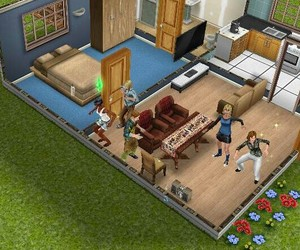 dancing, sims, and friends image