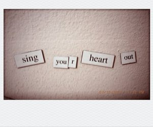 heart, magnets, and words image