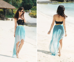 beach, summer, and dress image