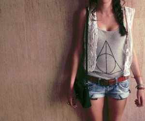 deathly hallows, harry potter, and girl image