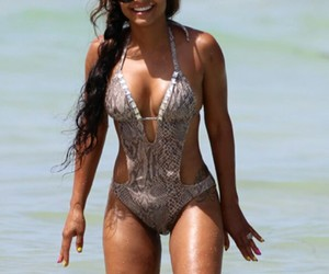 beach, christina milian, and cut outs image