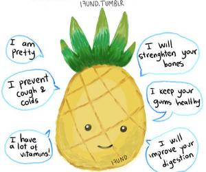 pineapple, fruit, and healthy image
