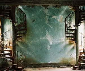staircase, stairs, and old image