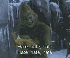 hate, grinch, and christmas image