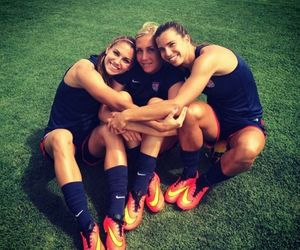 alex morgan, nike, and soccer image