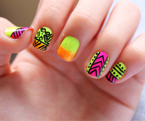 aztec, nail, and summer image