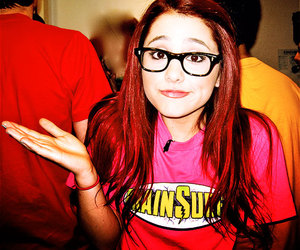 ariana grande, glasses, and red hair image
