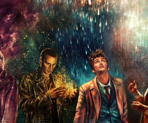 david tennant, matt smith, and christopher eccleson image