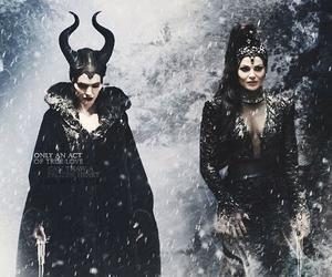 maleficent, once upon a time, and Angelina Jolie image