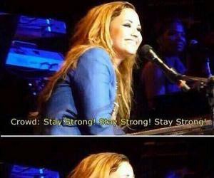 demi lovato, stay strong, and lovatics image