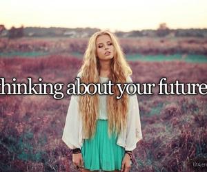 future, girl, and thinking image