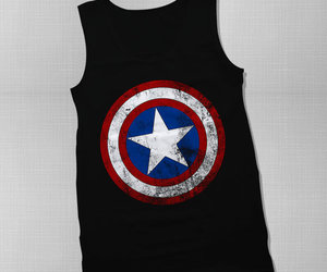 black, captain america, and t-shirt image