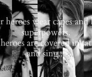 hero, band, and andy biersack image
