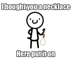 funny, necklace, and lol image