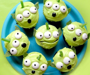 cupcake, toy story, and green image