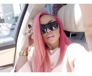celine, luxury, and pink hair image