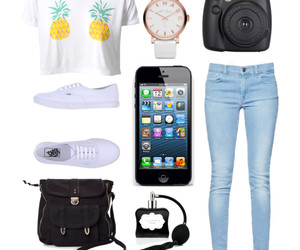 jeans, Polyvore, and vans image
