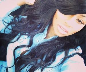 beauty, black, and long hair image