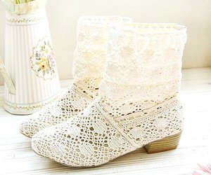 boots, white, and botas image