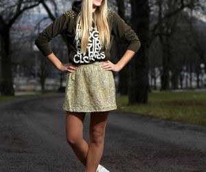chic, lookbook, and short skirt image