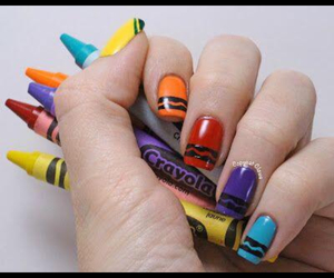 nails, colors, and crayola image