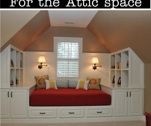 attic, bed, and diy image