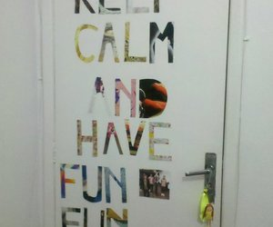 door, fun, and typography image