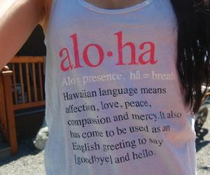 Aloha and top image