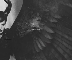 black, wings, and maleficent image