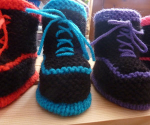 baby booties, baby goth, and baby knits image