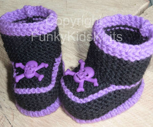 baby booties, baby goth, and knitted baby image