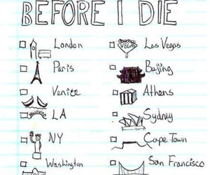 Athens, before i die, and cali image