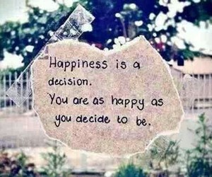decision and happiness image