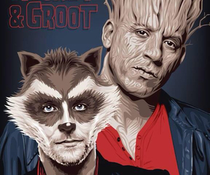 Vin Diesel, rocket raccoon, and voice image