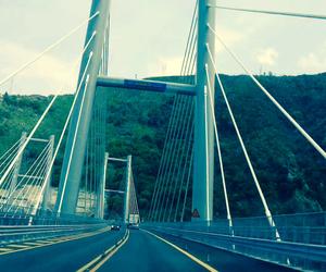 bridge, cars, and street image