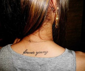 tattoo, Forever Young, and girl image