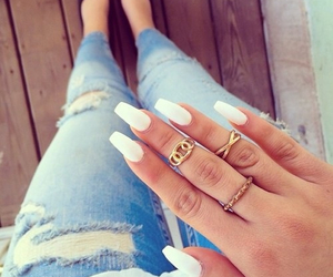 nails, fashion, and white image