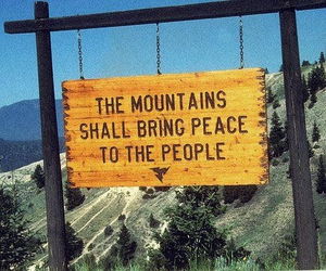 mountains, peace, and nature image