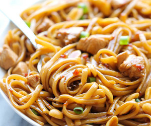 food, noodles, and Chicken image