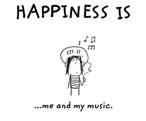 happiness and music image