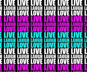 laugh, live, and wallpaper image