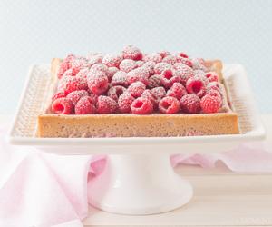 cake, food, and custard image