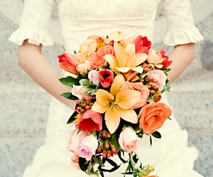 beautiful, bouquet, and colorful image