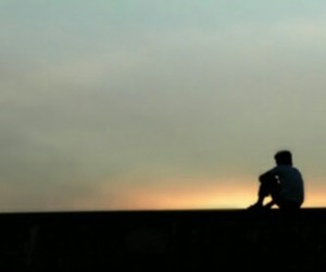 alone, boy, and lonely image