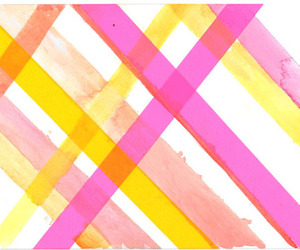 pink, bakground, and yellow image