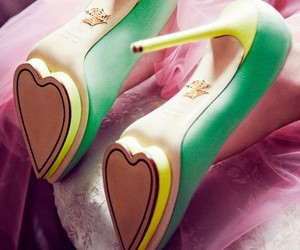 shoes, heart, and heels image