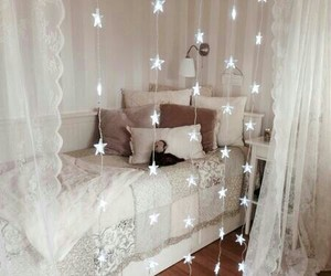 bedroom, room, and stars image